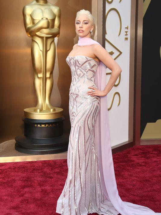 Oscar 2014 Lady Gaga in Versace Couture