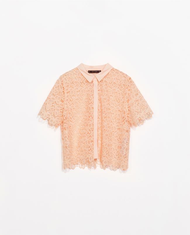 Saldi estivi 2014: la camicia di Zara con finiture a ricamo