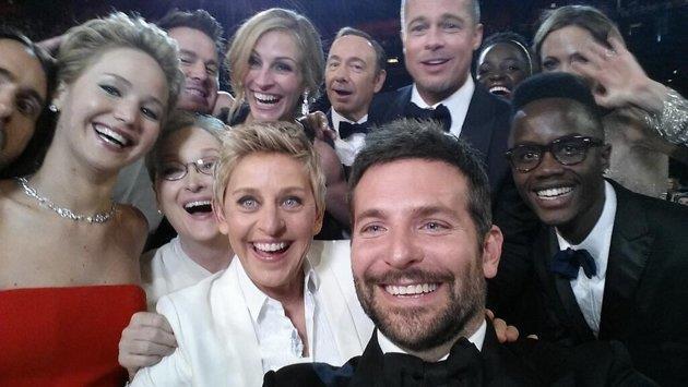 Oscar 2014 selfie moment