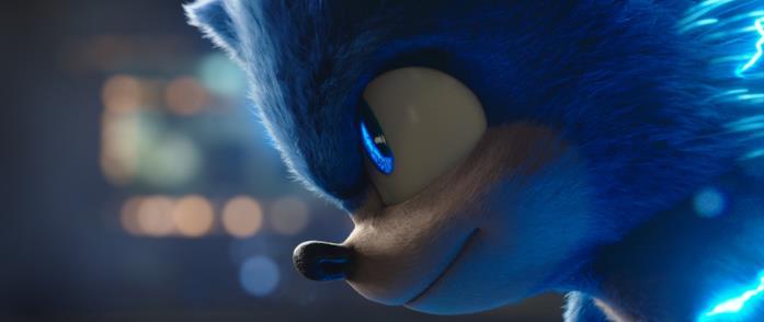 """Il profilo di Sonic con il naso """"a punta"""" nello stile originale"""