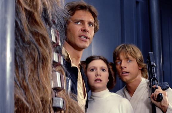 Han, Leia e Luke