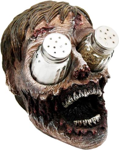 Zombie Head Salt and Pepper Shakers