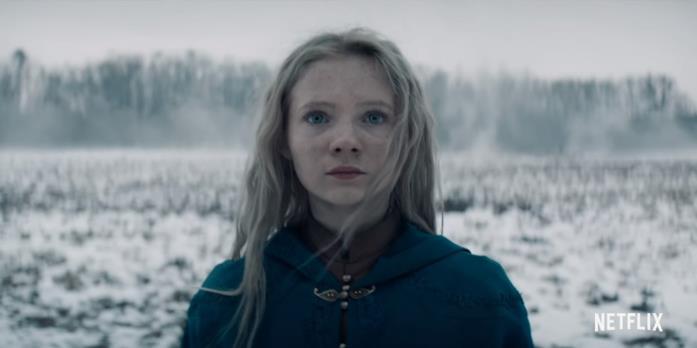 La piccola Ciri nella serie tv di Netflix su The Witcher