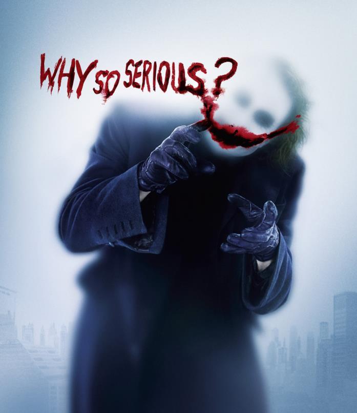 Character poster di Joker per Il cavaliere oscuro
