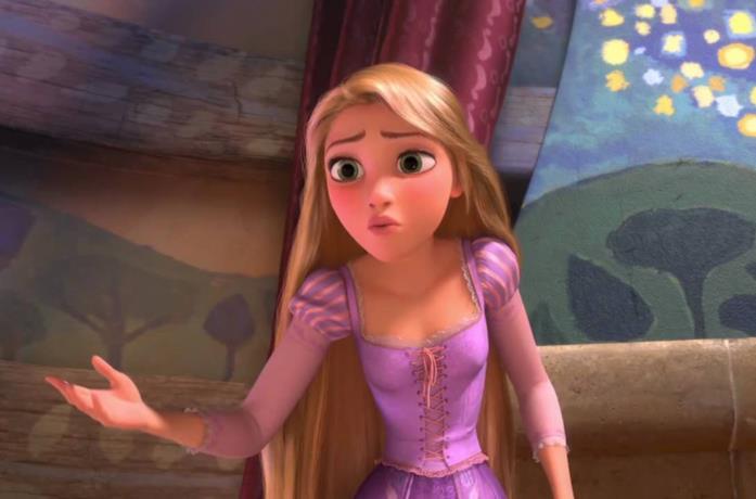 Rapunzel nel film d'animazione