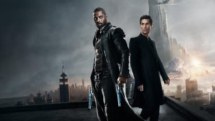 Il poster del film La Torre Nera, con Idris Elba