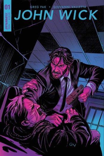 La copertina del fumetto di John Wick