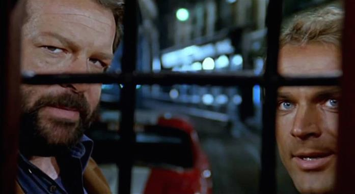 Bud Spencer e Terence Hill in una scena del film