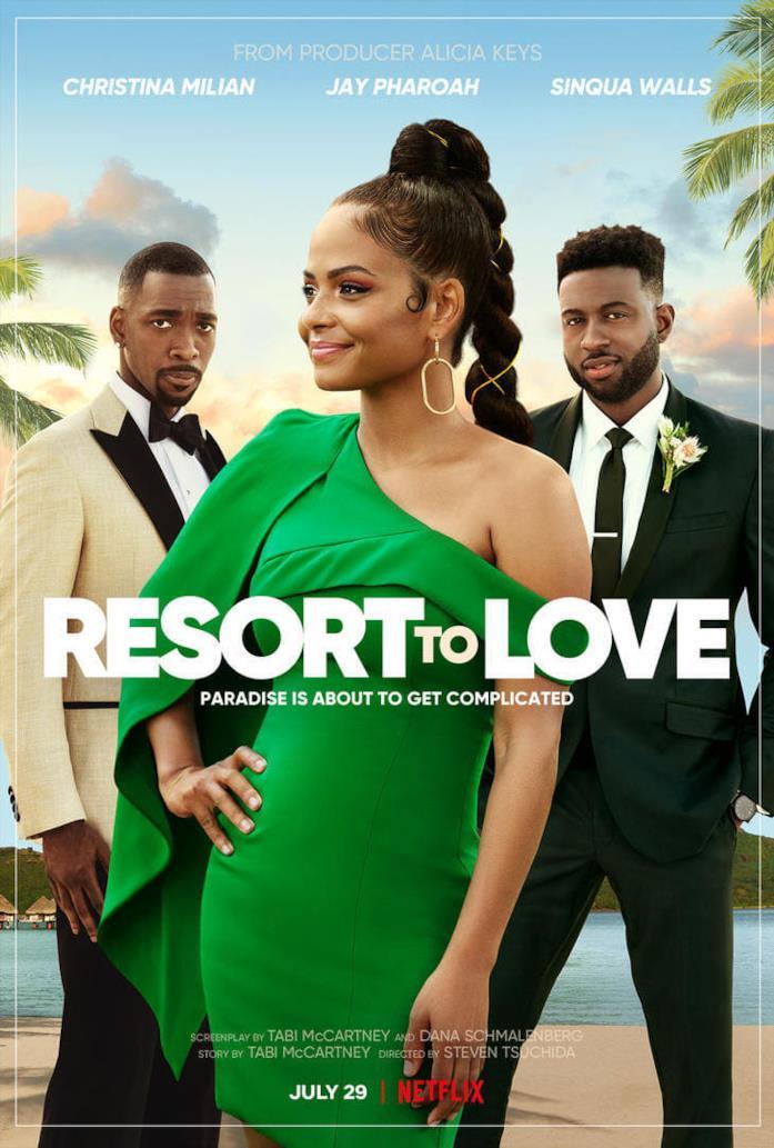 Il cast nella locandina di Resort to Love