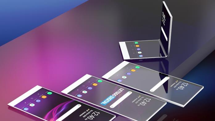 Concept dello smartphone trasparente di Sony