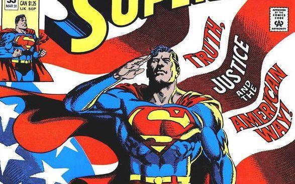 Particolare della copertina di Superman #53, marzo 1991