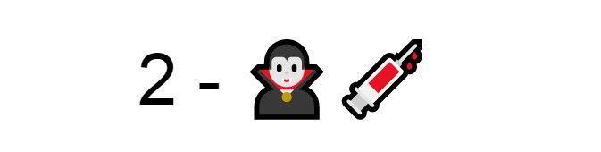 Emoji vampiro siringa