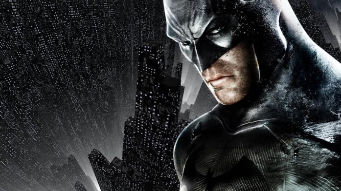 Un primo piano di Batman da Arkham City