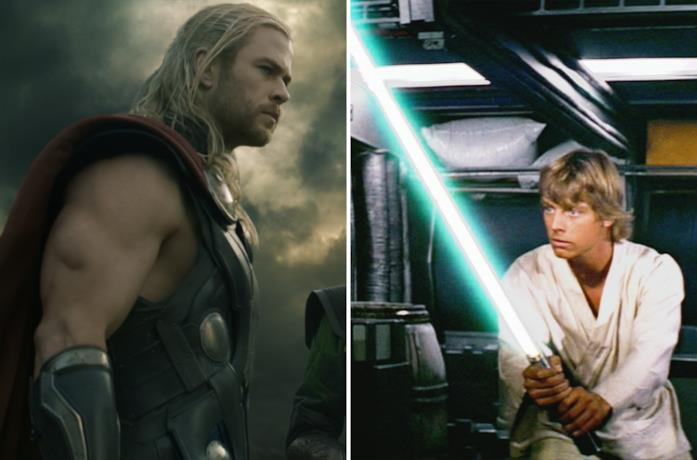 Thor e Luke Skywalker