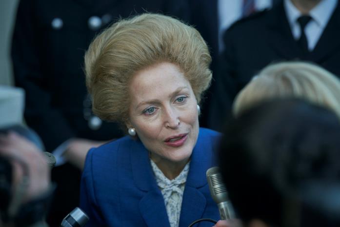 Margaret Thatcher in blu