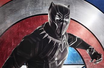 Un'immagine di Black Panther nel poster di Civil War