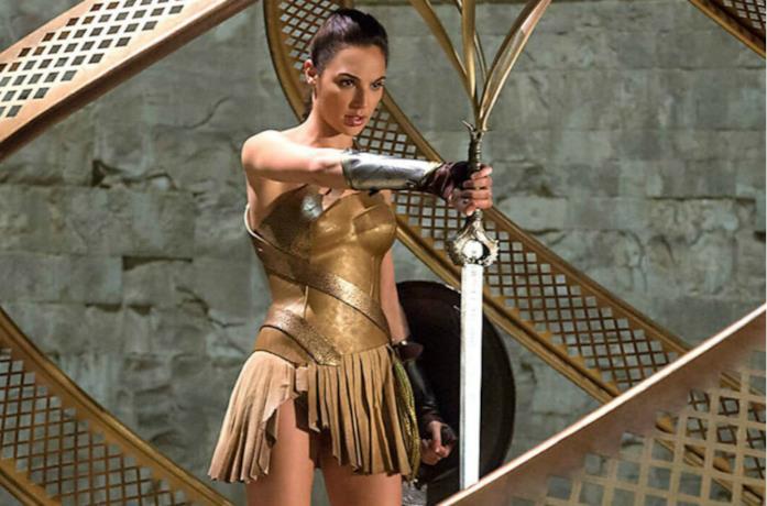 Un'immagine di Diana Prince in una sequenza di Wonder Woman