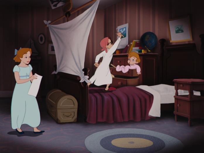 Una scena di Peter Pan