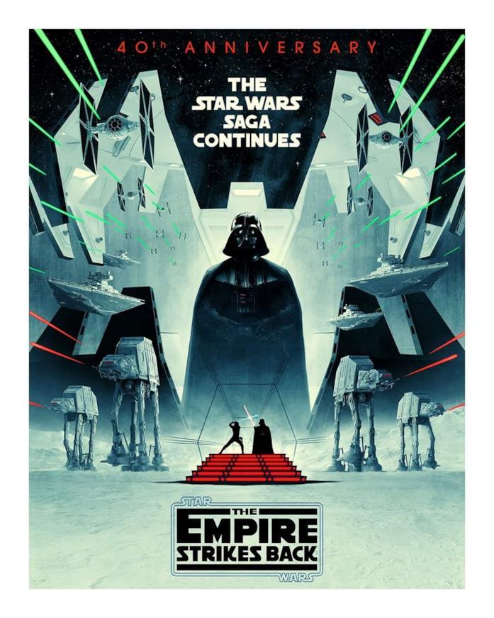Darth Vader giganteggia nel poste di Episodio V