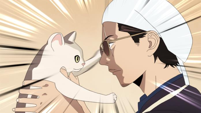 Tatsu osserva il gatto Gin