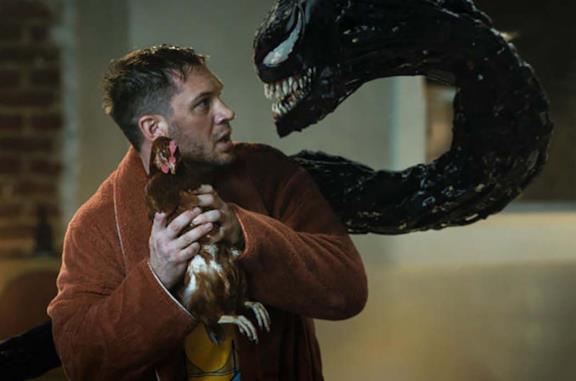 Eddie, Venom e una gallina