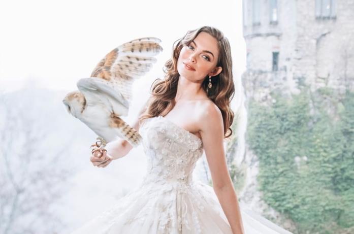 Aurora in abito da sposa