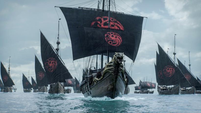 La flotta Targaryen a vele spiegate