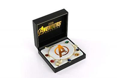Marvel Avengers Endgame Infinity Stone Charm Bracelet   Measures Up To 8 Inches