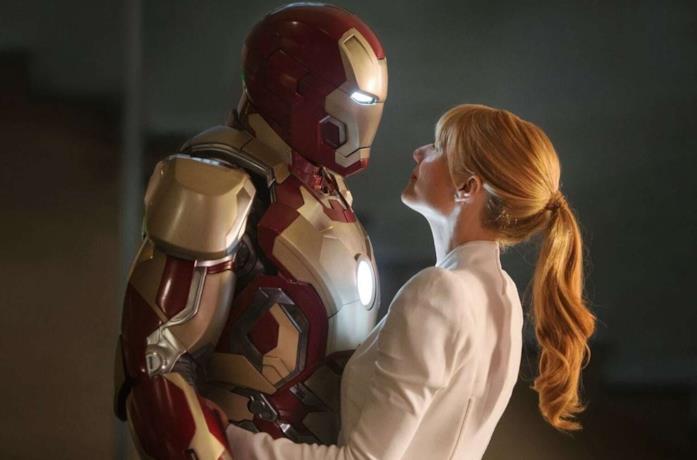 Iron Man e Pepper Potts in Iron Man 3