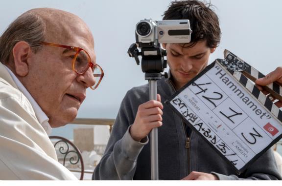 Foto dal set di Hammamet