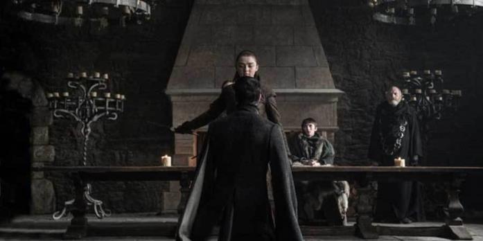 La morte di Ditocorto per mano di Arya in Game of Thrones 7x07