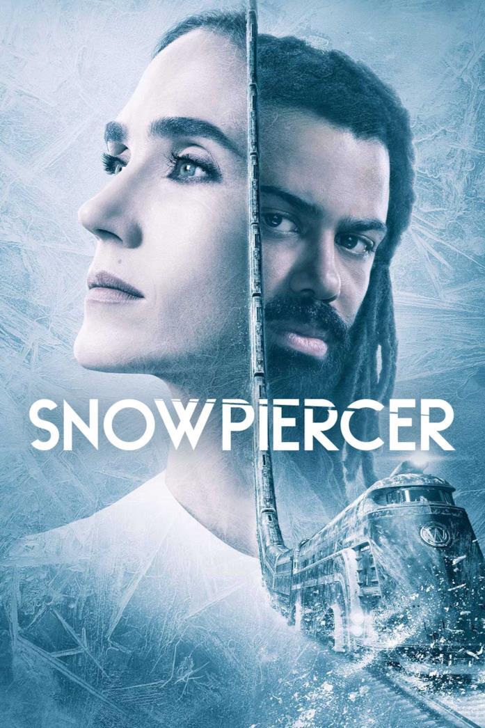 Jennifer Connelly e Daveed Diggs nella locandina di Snowpiercer