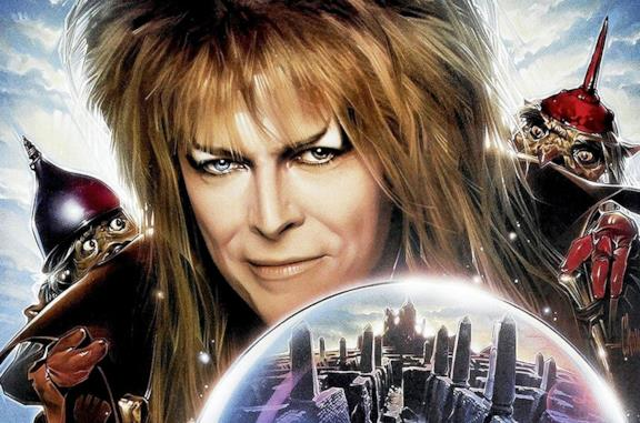 Un'immagine di David Bowie nel poster di Labyrinth