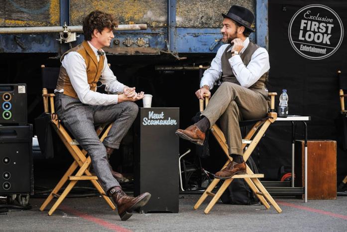 Animali Fantastici: I Crimini di Grindelwald, Eddie Redmayne e Jude Law sul set