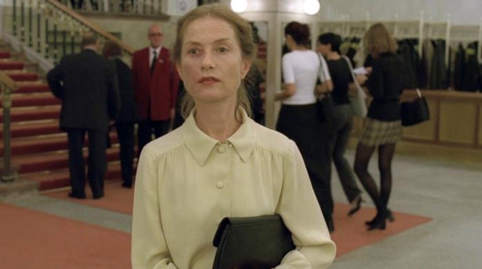 Isabelle Huppert in una scena di La Pianista