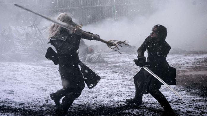 Jon Snow combatte contro un Estraneo ad Aspra Dimora