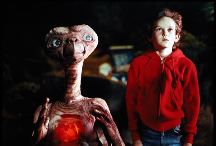 Una scena del film E.T.
