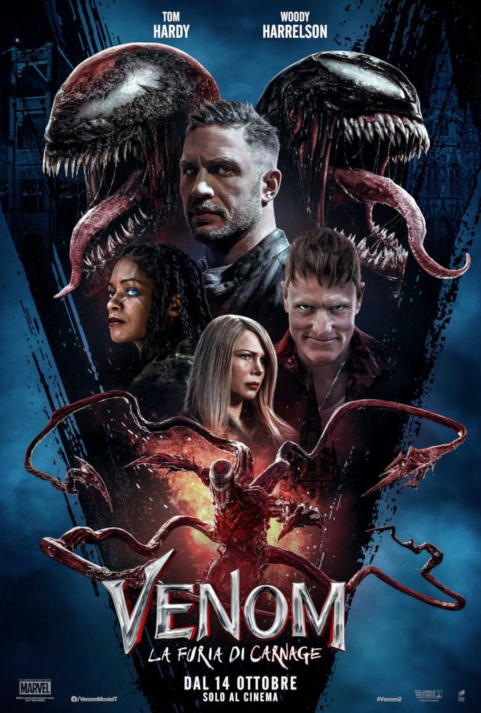 I protagonisti di Venom 2 nel poster italiano