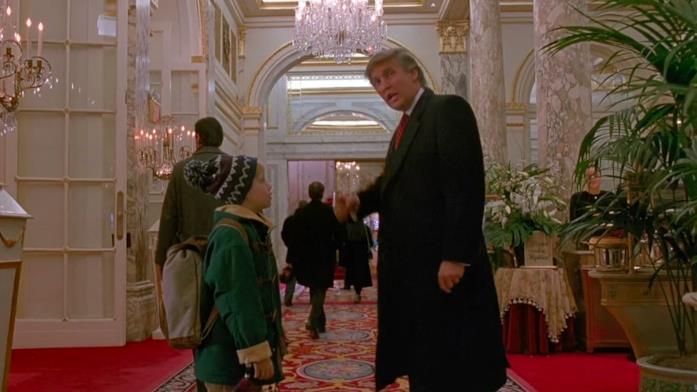 Trump e Culkin in Mamma, ho riperso l'aereo