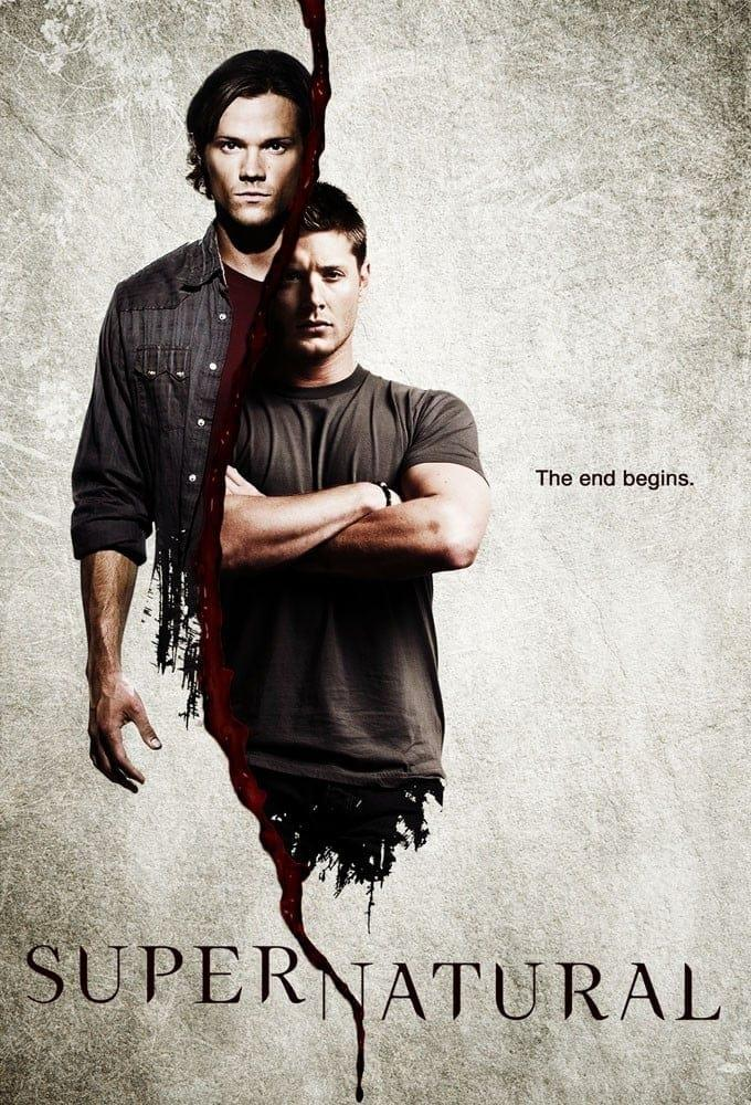 Jared Padalecki e Jensen Ackles nella locandina di Supernatural