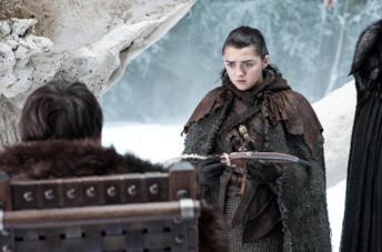 Maisie Williams nell'ottava stagione di Game of Thrones