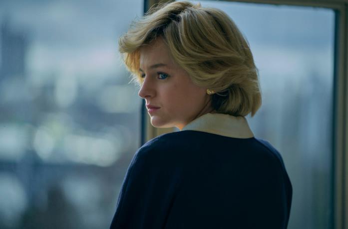 Diana di spalle