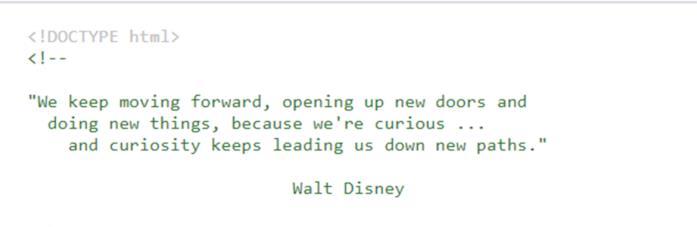 La frase di Walt Disney nel codice sorgente di Disney+