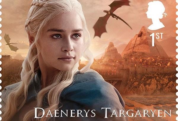 Daenerys Targaryen di Game of Thrones sul suo francobollo