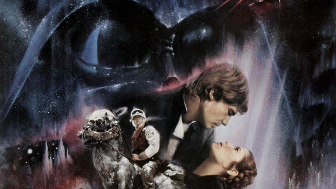 Il poster promozionale di Star Wars V con i protagonisti del film, realizzato da Roger Kastel