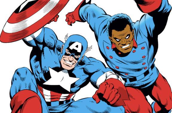 John Walker e Bucky nella cover di Captain America #334