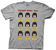 """T-Shirt """"The many moods of Tina"""""""