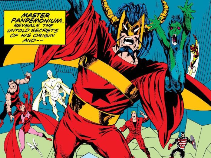 Dettaglio della cover di Avengers West Coast 52