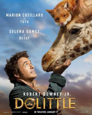 Il Dottor Dolittle con le sue amiche giraffa e volpe