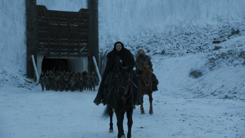 Jon e Tormund nell'episodio di GoT 8x06, The Iron Throne